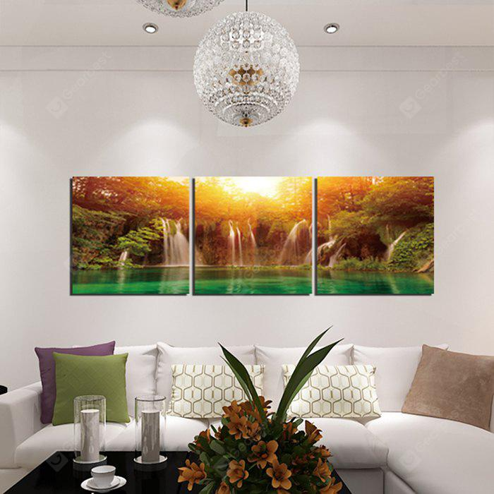 Waterfall Landscape Printed Canvas Wall Sticker Wallpaper COLORMIX