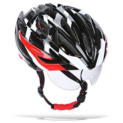 ROCKBROS Protective Cycling Helmet with Windproof Glasses