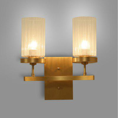 Buy COPPER COLOR ZUOGE DJB1029 Minimalist Two E27 Bases Wall Light 220V for $109.42 in GearBest store