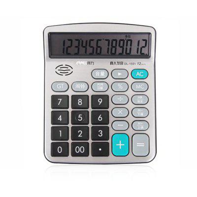 Deli 1551A Talking Calculator 12 Calcul Calculateur