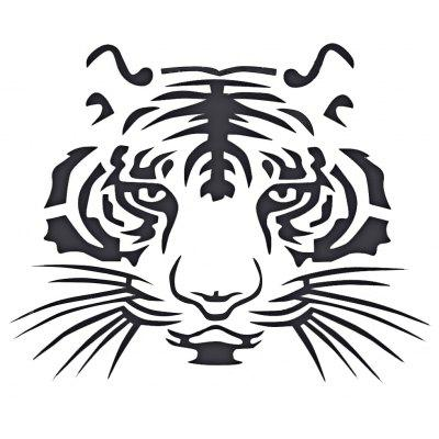 Reflective Tiger Head Automobile Sticker