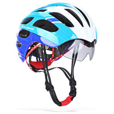 ROCKBROS Shockproof Cycling Helmet with Windproof Glasses