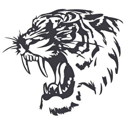 A1 Reflective Tiger Head Car Sticker
