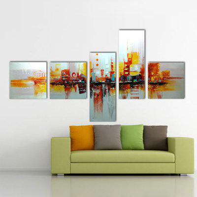 5PCS YHHP Modern Canvas Abstract Oil Painting