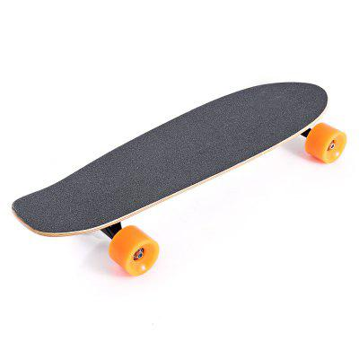 Remote Control 4-wheel Electric Skateboard Maple Slide BoardKick Scooter<br>Remote Control 4-wheel Electric Skateboard Maple Slide Board<br><br>Battery: Li-ion battery<br>Battery Capacity: 2200mAh<br>Battery Rate: 52W<br>Charger type: EU plug<br>Charging Time: 120 Minutes<br>Detailed Control Distance: 8m<br>Folding Type: Non-folding<br>Max Payload: 80kg<br>Maximum Mileage: 10km<br>Maximum Speed: 20km/h<br>Mileage (depends on road and driver weight): 8-15km<br>Motor Rated Power: 200W<br>Package Content: 1 x Electric Skateboard, 1 x Remote Control, 1 x Adapter, 1 x EU Plug, 1 x English User Manual<br>Package size: 77.00 x 29.00 x 18.00 cm / 30.31 x 11.42 x 7.09 inches<br>Package weight: 4.7200 kg<br>Permissible Gradient (depends on your weight): 10-15 degree<br>Product size: 73.00 x 22.50 x 11.50 cm / 28.74 x 8.86 x 4.53 inches<br>Product weight: 3.5450 kg<br>Remote Controller: Yes<br>Seat Type: without Seat<br>Type: E-Wheel Skateboard<br>Wheel Number: 4 Wheel