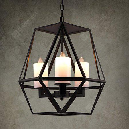 BLACK American Retro Personality Candle Chandelier 220V
