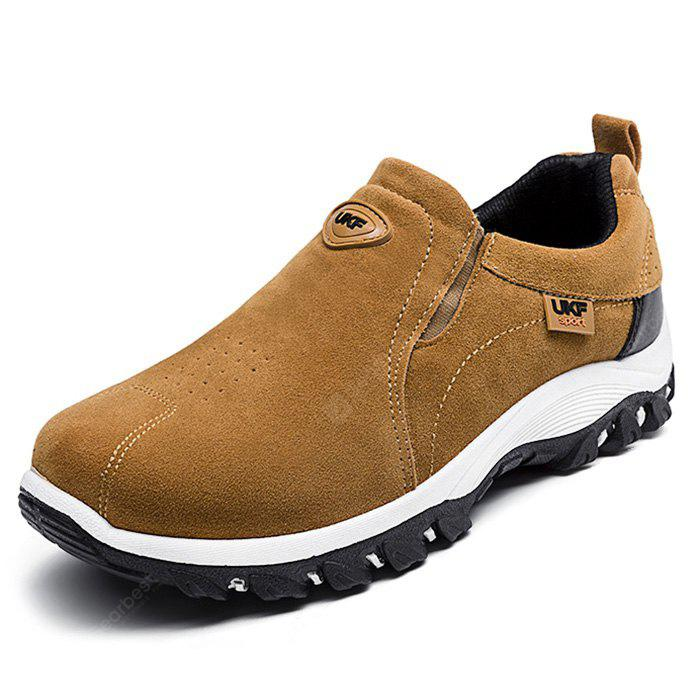 Men Casual Hiking Outdoor Slip on Suede Shoes - Macaroni And Cheese 40 outlet order BtAJyrZ
