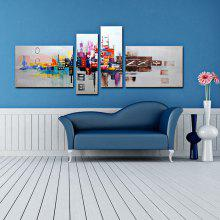 4PCS YHHP Artistic Hand-painted Abstract Oil Painting