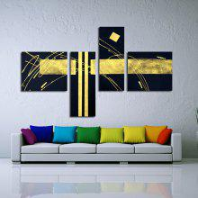 4PCS YHHP Bright Hand-painted Abstract Oil Painting