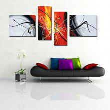 4PCS YHHP Exquisite Abstract Oil Painting