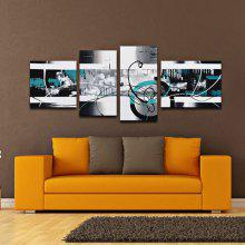 4PCS YHHP Colorful Darkish Abstract Oil Painting