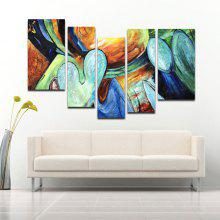 5PCS YHHP Elegant Vertical Abstract Oil Painting