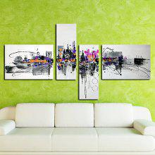4PCS YHHP Elegant Hand-painted Abstract Oil Painting