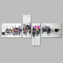 4PCS YHHP Abstract Landscape Oil Painting