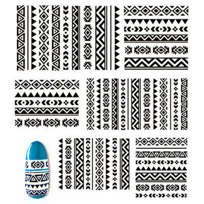 Self-adhesive Hollowed-out Lace Nail Stickers Decals