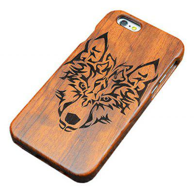 Wood Emboss Wolf Phone Case Cover for iPhone 6 / 6S