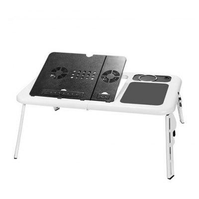 Folding Laptop Desk USB Table with 2 Cooling Fans Hole