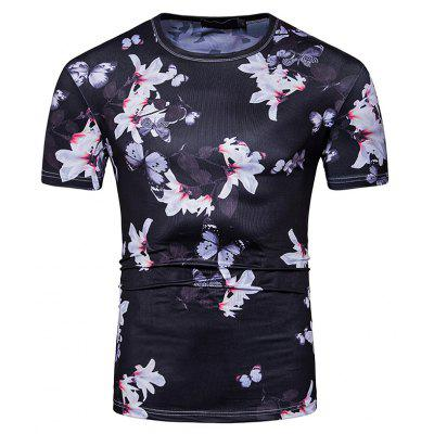 Buy BLACK Men Stylish 3D Printed T-shirt for $14.09 in GearBest store