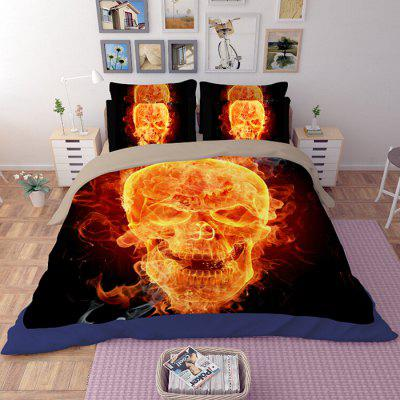 Buy COLORMIX 5-piece Polyester Bedding Set Dancing Ghosts Pattern for $83.31 in GearBest store