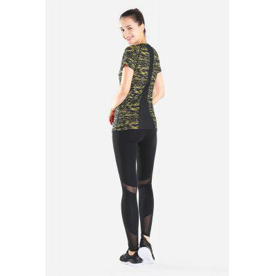 Women Camo Printed Quick Dry Yoga T-shirtYoga<br>Women Camo Printed Quick Dry Yoga T-shirt<br><br>Gender: Female<br>Package Content: 1 x T-shirt<br>Package size: 30.00 x 35.00 x 0.50 cm / 11.81 x 13.78 x 0.2 inches<br>Package weight: 0.2800 kg<br>Product weight: 0.2300 kg