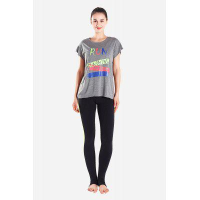 T-shirt sportiva con colletto da donna