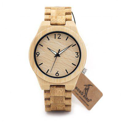 BOBO BIRD D27 Bamboo Hard Glass Watch