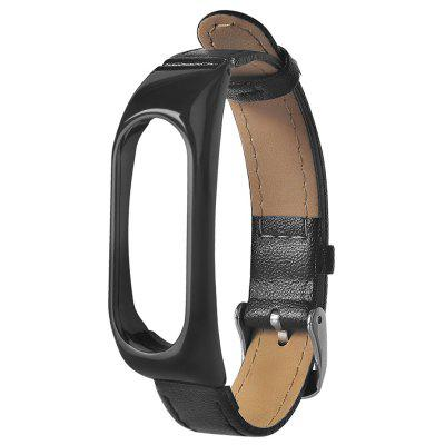 Leather Wristband for Xiaomi Mi Band 2 Metal Case