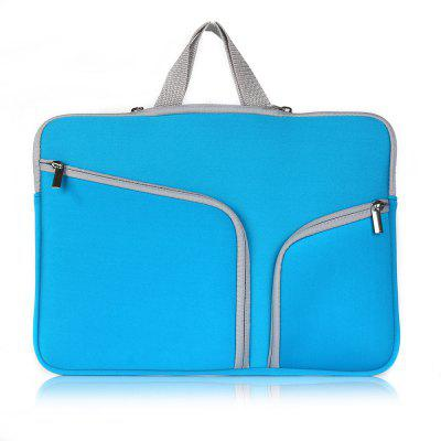 Double Pocket Zipper Laptop Sleeve Case for 15 inch Notebook