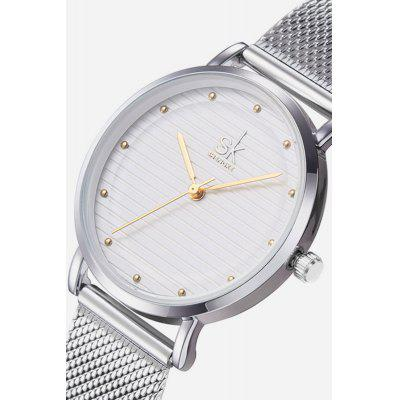 K0049 Round Dial Women WristwatchWomens Watches<br>K0049 Round Dial Women Wristwatch<br><br>Available Color: Gold,Silver<br>Band material: Steel<br>Band size: 23.7 x 1.5cm<br>Case material: Alloy<br>Clasp type: Hidden clasp<br>Dial size: 3.2 x 3.2 x 1.2cm<br>Display type: Analog<br>Movement type: Quartz watch<br>Package Contents: 1 x Wristwatch, 1 x Box<br>Package size (L x W x H): 28.00 x 8.00 x 3.50 cm / 11.02 x 3.15 x 1.38 inches<br>Package weight: 0.1150 kg<br>Product size (L x W x H): 23.70 x 3.20 x 1.20 cm / 9.33 x 1.26 x 0.47 inches<br>Product weight: 0.0650 kg<br>Shape of the dial: Round<br>Watch style: Fashion<br>Watches categories: Women<br>Water resistance : 30 meters<br>Wearable length: 19.5cm