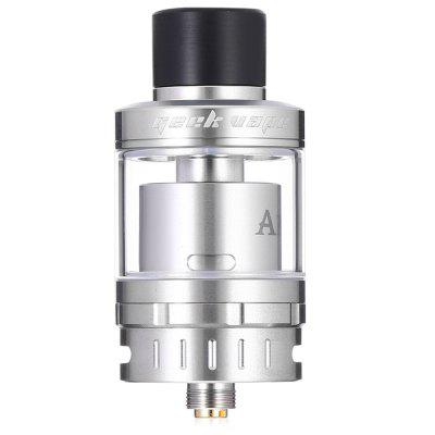 The Geekvape AMMIT 25 AtomizerRebuildable Atomizers<br>The Geekvape AMMIT 25 Atomizer<br><br>Brand: Geekvape<br>Material: Stainless Steel, Glass<br>Model: AMMIT 25<br>Package Contents: 1 x RTA Atomizer<br>Package size (L x W x H): 9.00 x 6.00 x 5.00 cm / 3.54 x 2.36 x 1.97 inches<br>Package weight: 0.2100 kg<br>Product size (L x W x H): 4.80 x 2.50 x 2.50 cm / 1.89 x 0.98 x 0.98 inches<br>Product weight: 0.0600 kg<br>Tank Capacity: 2.0ml,5.0ml<br>Thread: 510<br>Type: Tank Atomizer, Clearomizer