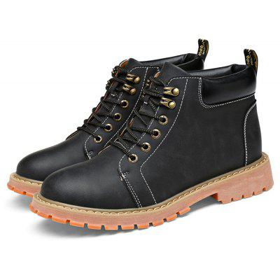 Men Middle Upper Lace-up Boots