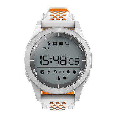 NO.1 F3 Sports SmartwatchSmart Watches<br>NO.1 F3 Sports Smartwatch<br><br>Band material: Silicone<br>Band size: 25.5 x 2.2 cm<br>Battery  Capacity: 240mAh<br>Bluetooth calling: Callers name display,Phone call reminder<br>Bluetooth Version: Bluetooth 4.0<br>Brand: NO.1<br>Built-in chip type: Dialog DA14580<br>Case material: PC<br>Compatability: Android 4.4 or above and iOS 9.0 or above<br>Compatible OS: Android, IOS<br>Dial size: 4.35 x 4.35 x 1.4 cm<br>Health tracker: Pedometer,Sedentary reminder,Sleep monitor<br>IP rating: IP68<br>Language: English,Simplified Chinese<br>Messaging: Message reminder<br>Notification type: WhatsApp, Wechat, Twitter, Skype, Facebook<br>Operating mode: Touch Key<br>Package Contents: 1 x Smartwatch, 1 x English-Chinese Manual<br>Package size (L x W x H): 9.80 x 9.80 x 7.90 cm / 3.86 x 3.86 x 3.11 inches<br>Package weight: 0.1670 kg<br>People: Female table,Male table<br>Product size (L x W x H): 25.50 x 4.30 x 1.40 cm / 10.04 x 1.69 x 0.55 inches<br>Product weight: 0.0530 kg<br>Screen size: 1.1 inch<br>Shape of the dial: Round<br>Standby time: 365 dyas<br>Type of battery: Button Cell<br>Waterproof: Yes