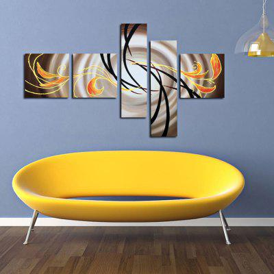5PCS YHHP Exquisite Hand-painted Abstract Oil Painting