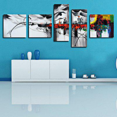 5PCS YHHP Exquisite Abstract Landscape Oil Painting