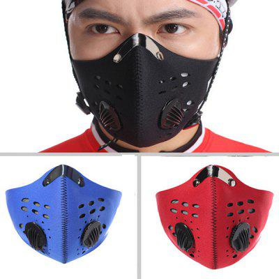 PM 2.5 Anti-dust Breathable Half Face Protective Mask with Filter 3m 1211 10pc1701filter cotton half face gas mask dust anti industrial conatruction dust pollen haze poison family professional