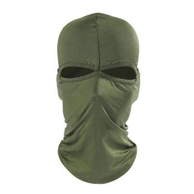Outdoor Pure Color Cycling Full Cover Face Protective Mask