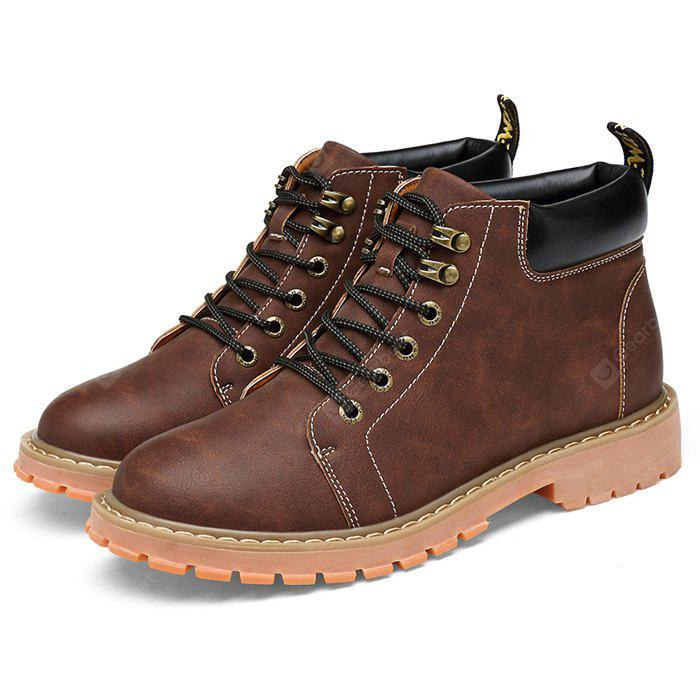 under $60 cheap price Men Stylish Lace-up Work Boots best wholesale online buy cheap find great newest cheap online HLMSUdg