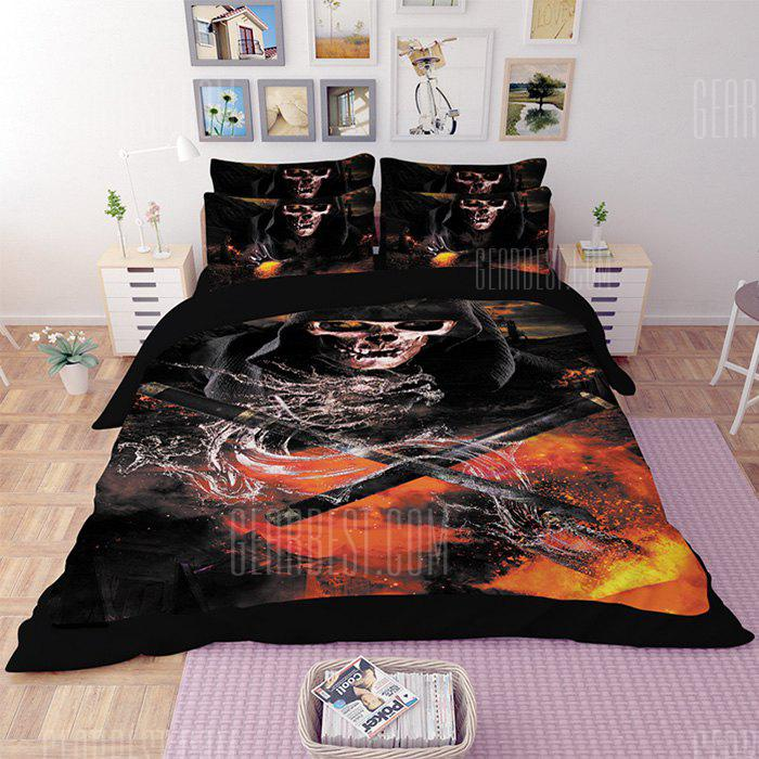 COLORMIX 5-piece Polyester Bedding Set Ghost with Swords Pattern