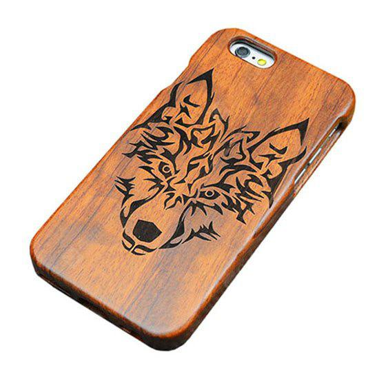 Holz Emboss Wolf Case Cover für iPhone 6 Plus / 6S Plus