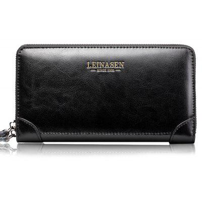 Retro Genuine Calfskin Leather Clutch Bag for Men