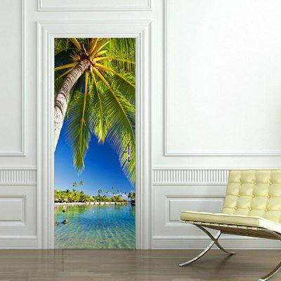 DM033 3D Palm Door Sticker