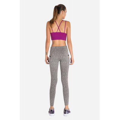 Fashionable Strap Sports No Rim Running BraYoga<br>Fashionable Strap Sports No Rim Running Bra<br><br>Features: Anti Sweat, Breathable, No Rim<br>Gender: Female<br>Material: Spandex, Nylon<br>Package Content: 1 x Bra<br>Package size: 30.00 x 35.00 x 0.50 cm / 11.81 x 13.78 x 0.2 inches<br>Package weight: 0.3200 kg<br>Product weight: 0.2700 kg