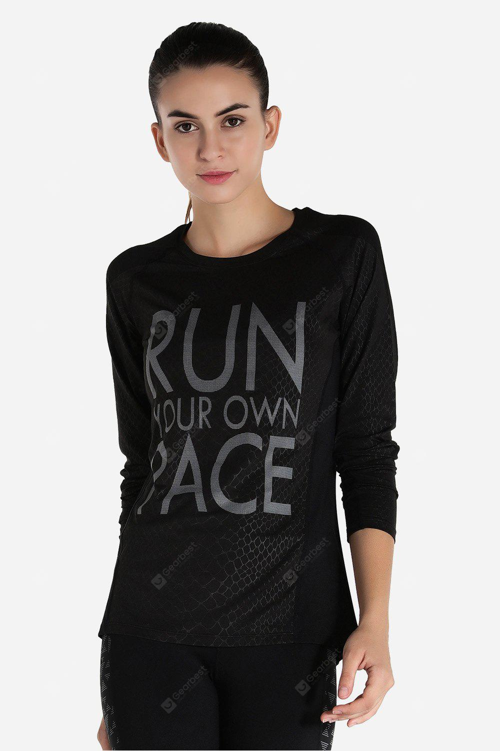 Sports Long Sleeves Quick Dry Yoga Training T-shirt for Women