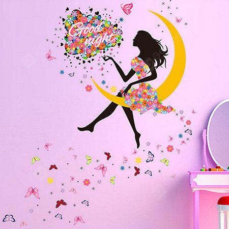 DIY Moon Girl Waterproof Wall Sticker