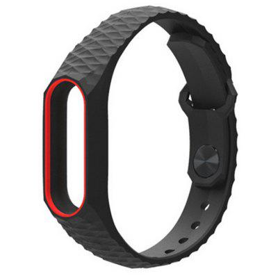 TPU Anti-off Wristband for Xiaomi Mi Band 2  -  RED AND BLACK