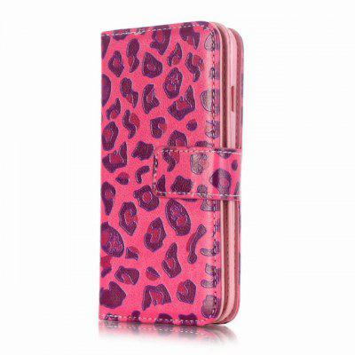 Leather Wallet Case Emboss Printing Phone Cover for iPhone 7