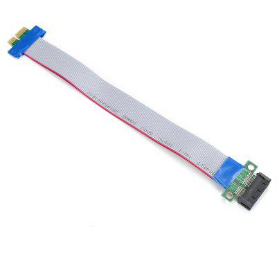 PCI-E 1X Slot Riser Card Extender Extension Ribbon Flex Relocate Cable