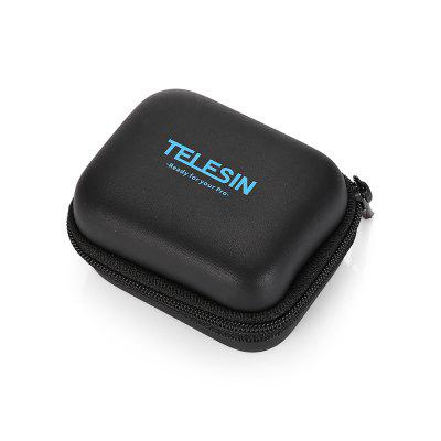 TELESIN Mini Action Camera Protective CaseAction Cameras &amp; Sport DV Accessories<br>TELESIN Mini Action Camera Protective Case<br><br>Accessory type: Storage Bag<br>Apply to Brand: Gopro,YI<br>Brand: TELESIN<br>Compatible with: Gopro Hero 4, GoPro Hero 5, YI, Gopro Hero 3 Plus<br>Package Contents: 1 x Storage Bag<br>Package size (L x W x H): 16.00 x 14.00 x 5.00 cm / 6.3 x 5.51 x 1.97 inches<br>Package weight: 0.0550 kg<br>Product size (L x W x H): 8.00 x 6.50 x 4.00 cm / 3.15 x 2.56 x 1.57 inches<br>Product weight: 0.0240 kg