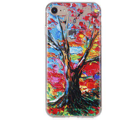 Tree Printing TPU Clear Phone Case Cover for iPhone 7