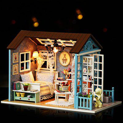 DIY Miniature Wooden Dollhouse with LED LightDoll House<br>DIY Miniature Wooden Dollhouse with LED Light<br><br>Gender: Unisex<br>Materials: Wood<br>Package Contents: 1 x Pack of DIY Accessories<br>Package size: 24.50 x 18.00 x 6.00 cm / 9.65 x 7.09 x 2.36 inches<br>Package weight: 0.6300 kg<br>Product size: 21.00 x 12.50 x 15.50 cm / 8.27 x 4.92 x 6.1 inches<br>Product weight: 0.4500 kg